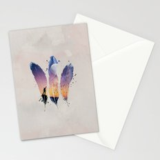 FEATHERS / MOON BALLOON Stationery Cards