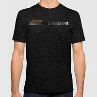 Illusion Mens Fitted Tee Tri-Black SMALL