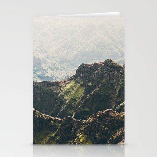 Hawaii Green Stationery Card
