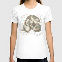 cats T-shirts featuring cats by Laura Graves