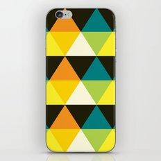 Teal, mustard, black & yellow triangles iPhone & iPod Skin