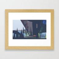Underneath An Overpass Framed Art Print