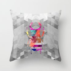 Stag Beetle Throw Pillow