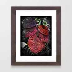 Speckled Leafs Framed Art Print