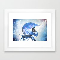 White Space Framed Art Print