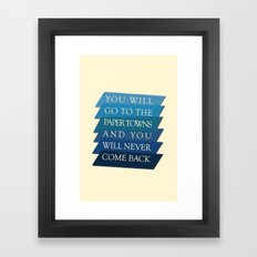 you will go to the paper towns Framed Art Print