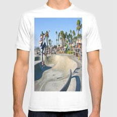 Venice Skate Park White Mens Fitted Tee SMALL