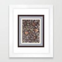 Forest litter #1 Framed Art Print