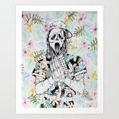 Ghost Face Pitcher Art Print