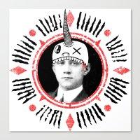 Head Hat Canvas Print