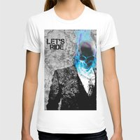 UNREAL PARTY 2012 GHOST RIDER Womens Fitted Tee White SMALL