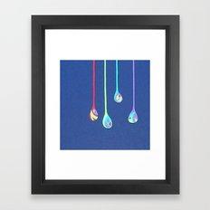 Jewel Drops Papercut Framed Art Print