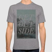 Get Outside Mens Fitted Tee Athletic Grey SMALL
