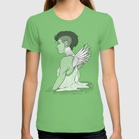Angel Hawk Avenger Womens Fitted Tee Grass SMALL