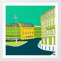 CITY CENTRE // TOWN Art Print