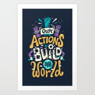 Art Print featuring Build Our World by Risa Rodil