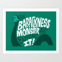 Barackness Monster Art Print