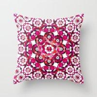Khatem Rosette 002 | Magenta Throw Pillow
