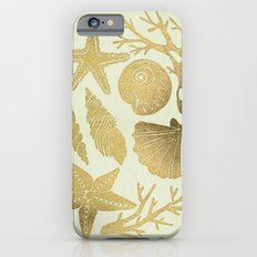 Gold Seashells iPhone 6 Slim Case