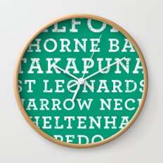Life's a beach - Emerald Wall Clock