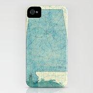 Alabama Map Blue Vintage iPhone (4, 4s) Slim Case