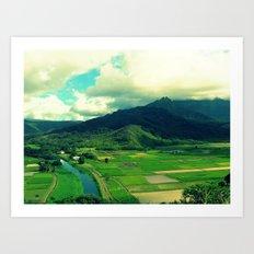 Hanalei Valley Art Print