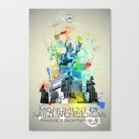 ABSTRACT - MONUMENT OF ST. WENCESLAS, PRAGUE Canvas Print
