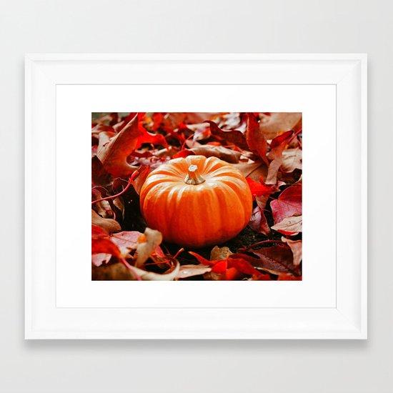 Samhain pumpkin Framed Art Print