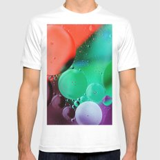 JUST ENJOY THE SHOW SMALL White Mens Fitted Tee