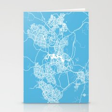 Canberra Map Blue Stationery Cards