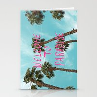 Welcome To Paradise - Pink Stationery Cards