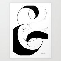 Ampersand - White Art Print