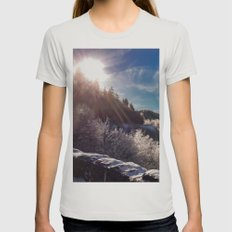 Snowy Smoky Womens Fitted Tee Silver SMALL