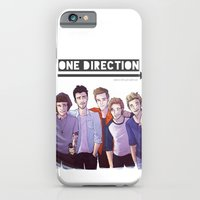 one direction iPhone & iPod Cases featuring One Direction by Gianbe
