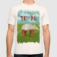 Texas Mens Fitted Tee Natural SMALL