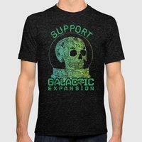 Support Galactic Expansion Mens Fitted Tee Tri-Black SMALL