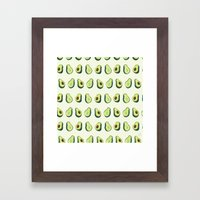 Avacado Pattern 2  Framed Art Print