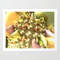 Glass Ribbons / / #fractal #fractals #3d Art Print