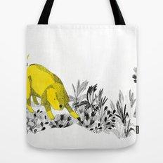 yellow dog Tote Bag