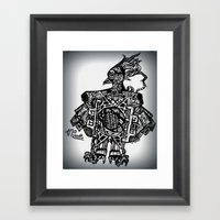 Robotic Bird Framed Art Print
