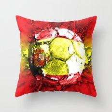 football  spain Throw Pillow