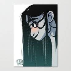 Black hair Canvas Print