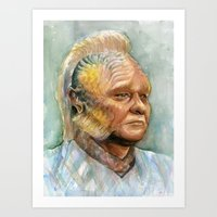 Neelix Star Trek Watercolor Portrait Art Print