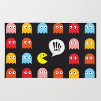 Pac-Man Trapped Rug