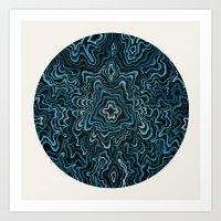 Intimate Portrait In Blu… Art Print