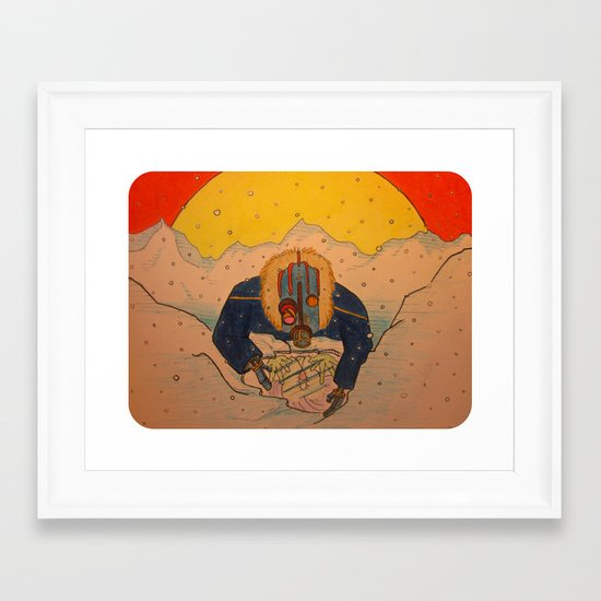 """""""Upon the Ice Moon of Europa"""" Framed Art Print"""