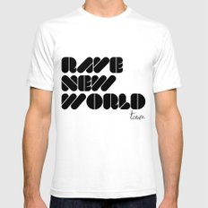 RAVE NEW WORLD Mens Fitted Tee White SMALL