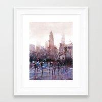 New York - Rainy day Framed Art Print