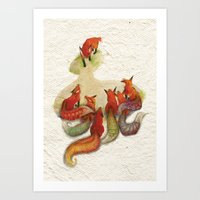 Aesop's Fable - The Fox … Art Print