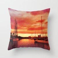 Spanish Marina II Throw Pillow